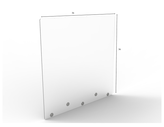 "Mountable Clear Protective Shield - 36"" W x 36"" H 
