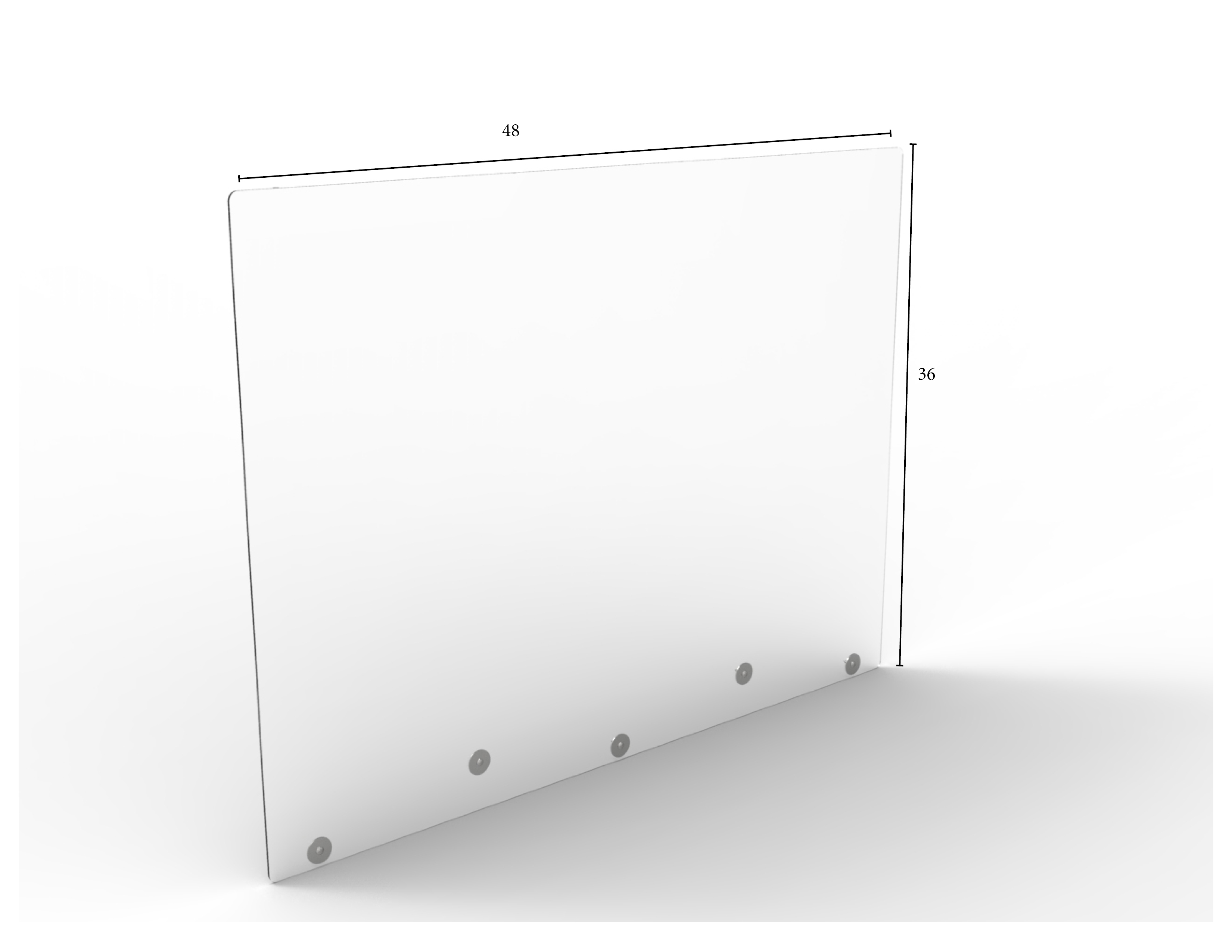 "Mountable Clear Protective Shield - 48"" W x 36"" H 
